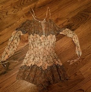 Free People Paisley Romper XS like new so divine